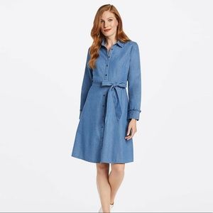 Belted Chambray Shirt Dress Draper James
